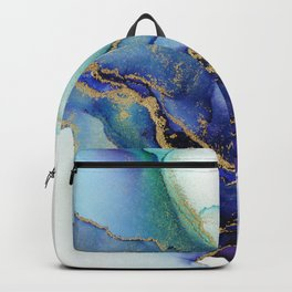 Electric Waves Violet Turquoise - Part 1 Backpack