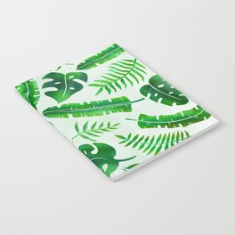 Tropical Leaves Pattern Notebook