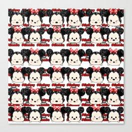 Minnie Mickey Tsum tsum pattern Canvas Print