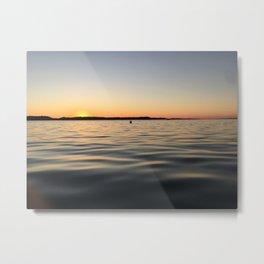 Torch Lake Waves Metal Print