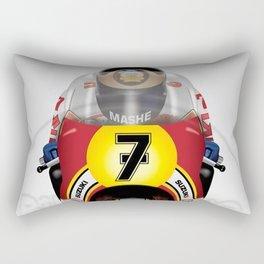 Barry Sheene 500cc 1976 MotoGP Rectangular Pillow