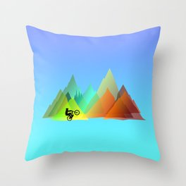 MTB Moutains Colors Throw Pillow