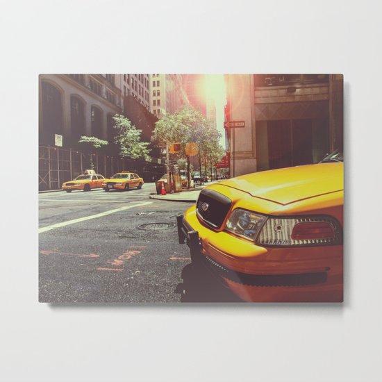 NYC Taxi Cab Metal Print