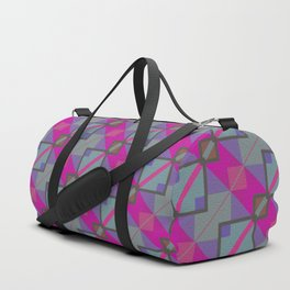 Grey Purple Aztec Pattern Duffle Bag