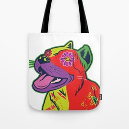 Pit Bull Dog Colorful Abstract Art Digitalart Gift Tote Bag