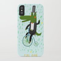crocodile iPhone & iPod Cases featuring crocodile by angry bean