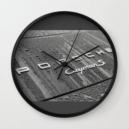Porsche CaymanS and Rain Wall Clock