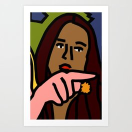 Woman yelling at cat Meme - Detail 2 Art Print