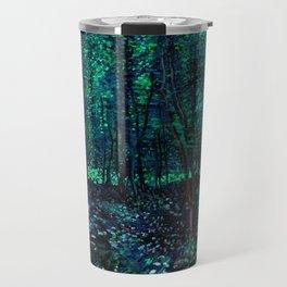 Vincent Van Gogh Trees & Underwood Teal Green Travel Mug