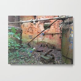 Inside Abandoned Mill Metal Print