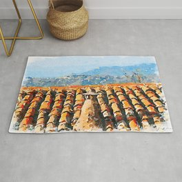 Roof with chimney pot Rug