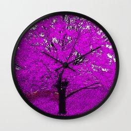 TREES PINK ABSTRACT Wall Clock