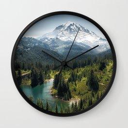 Mountain, Scenic, Rainier, Eunice Lake, National Park, Parks 2016 Wall Clock