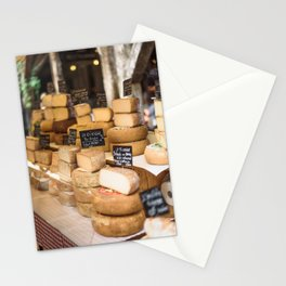 French Cheese Market Stall Stationery Cards