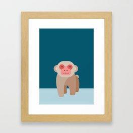 Japanese Macaque Framed Art Print