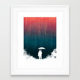 Meteoric rainfall Framed Art Print