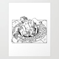 apollonia Art Prints featuring asc 487 - L'invocation (The summoning) by From Apollonia with Love