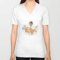 olivia joy V-neck T-shirts featuring Olivia by Noah Zark