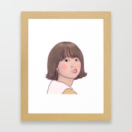 KISSY STRONG GIRL BONG SOON Framed Art Print