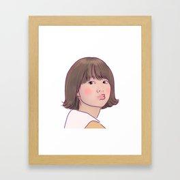 KISSY STRONG GIRL BONG SOON Framed Art Print