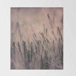 Barley-Pink Throw Blanket