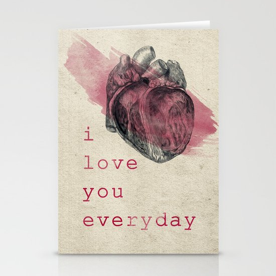 i_love_you_everyday Stationery Cards
