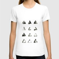 triangles T-shirts featuring triangles by LEEMO