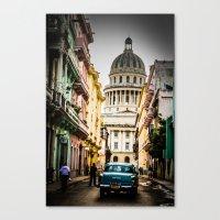 cuba Canvas Prints featuring Cuba by mirelfis