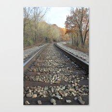 Walking The Railroad Tracks Canvas Print