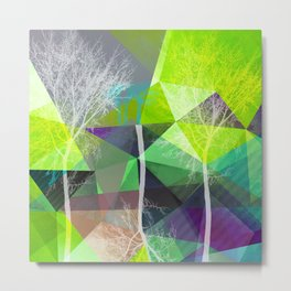 P18 Trees and Triangles Metal Print