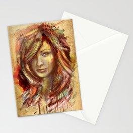 Olivia Wilde Digital Painting Portrait Stationery Cards