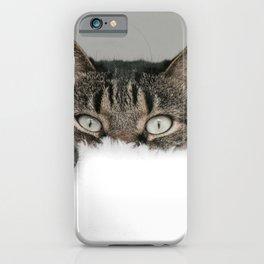cute cat looks at you iPhone Case