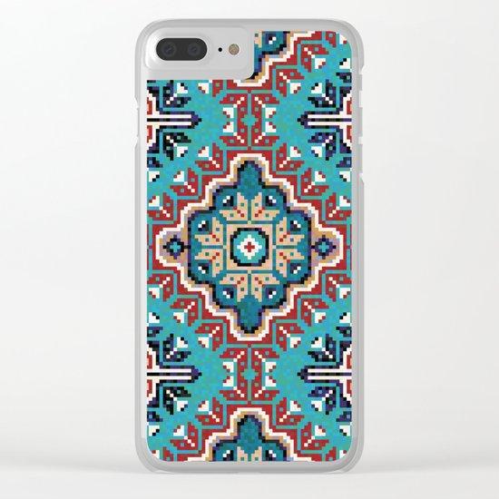 Native American Navajo pattern II Clear iPhone Case