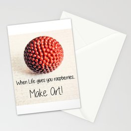 When Life Gives You Raspberries | Nadia Bonello Stationery Cards