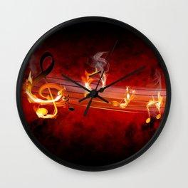 Hot Music Notes Wall Clock