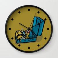 swedish Wall Clocks featuring Retro Swedish Camp Stove by mailboxdisco