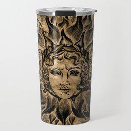 Apollo Sun God Black and Gold Travel Mug