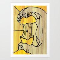 Wooden Apple Art Print