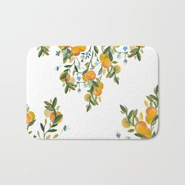 A Bit of Spring and Sushine Trailing Oranges Bath Mat
