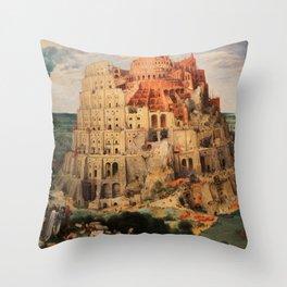 The Tower of Babel by Pieter Bruegel the Elder Throw Pillow