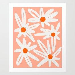 Happy Daisies Art Print