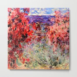 "Claude Monet ""Flowering Trees near the Coast"", 1926 Metal Print"
