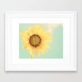 Sunflower Power Pop! Framed Art Print