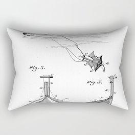 Swimming Apparatus Vintage Patent Hand Drawing Rectangular Pillow