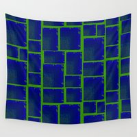 tetris Wall Tapestries featuring Vibrant Tetris by Jacqueline