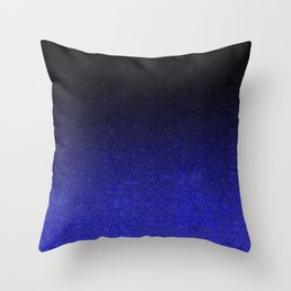 Blue & Black Glitter Gradient Throw Pillow