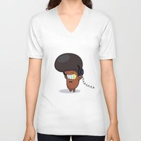 bruno mars V-neck T-shirts featuring BRUNO by Piktorama