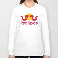 spice Long Sleeve T-shirts featuring Red Spice by Optimapress