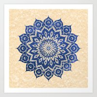 brown Art Prints featuring ókshirahm sky mandala by Peter Patrick Barreda