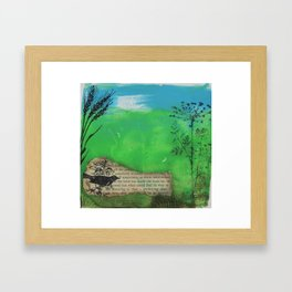 Landscape in Mixed Media Framed Art Print